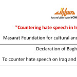 Declaration of Baghdad To counter hate speech on Iraq and the Middle East