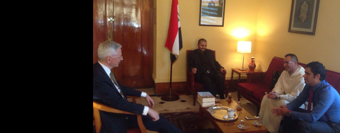 Dr. Marc Barety; the French ambassador in Baghdad has received The Iraqi Council for Interfaith Dialogue (ICID) in the Embassy's office.